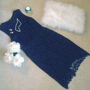 ANN TAYLOR | Navy Lace Dress